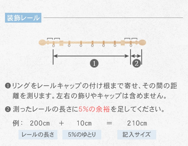 装飾レールの横幅の測り方