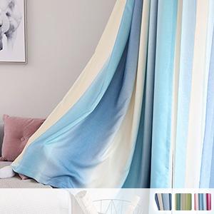 West Coast style striped curtains, custom curtains, fashionable