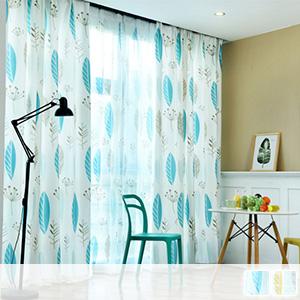 Scandinavian taste leaf pattern curtain, lace curtain