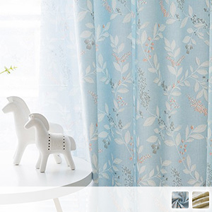 drape curtain, design with flower Mizuki motif