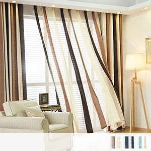 Lace curtains, American coloring stripes