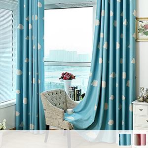 Drape curtain, cute cloud pattern, children's room