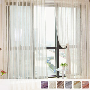 sheer curtains with beautifully transparent stripes