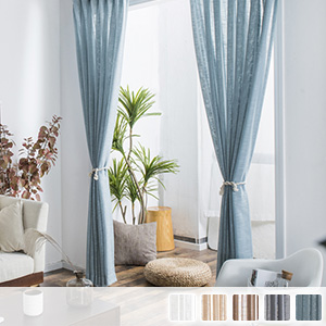 sheer curtains, Linen-like with good texture