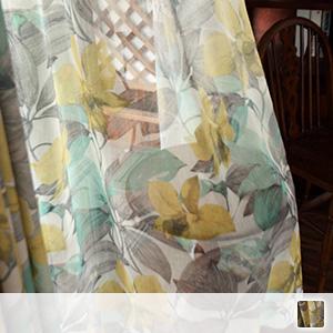 Lace curtains, antique floral pattern