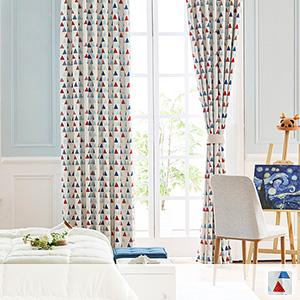 blackout drape curtain, geometric pattern with Nordic taste