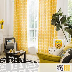 Drape curtain, geometric pattern of Scandinavian taste