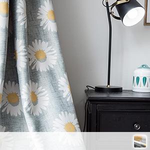 Drape curtains, floral Scandinavian curtains