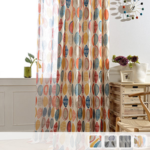 curtain set made of natural material which is soft and elegant
