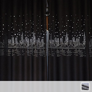 Drape curtain, carved town pattern, fashionable