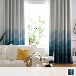 drape curtains, beautiful ink painting gradation