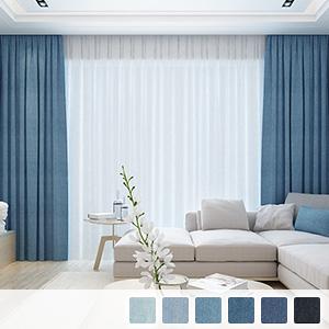 Drape curtains, cool denim curtains