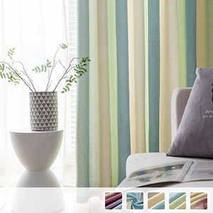 Gradient curtains with elegant striped pattern
