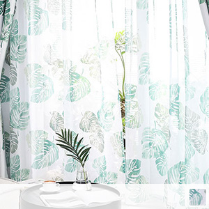 Lace curtain, leaf pattern with Scandinavian taste