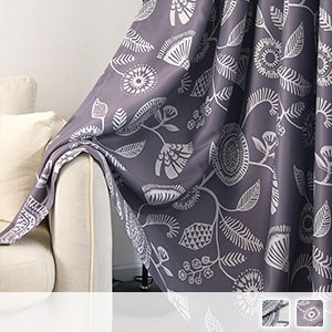 Drape curtain printed with a mysterious pattern