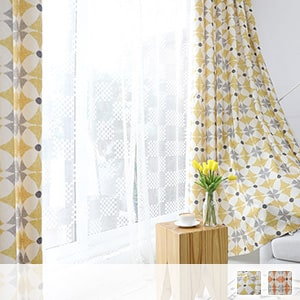 Drape curtain, bright Scandinavian taste