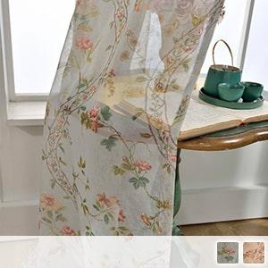 Elegant floral lace curtain