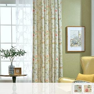 Elegant floral drape curtain