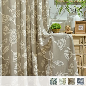 drape curtain with Indian style geometric pattern