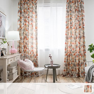 Drape curtains, geometric pattern of Scandinavian taste
