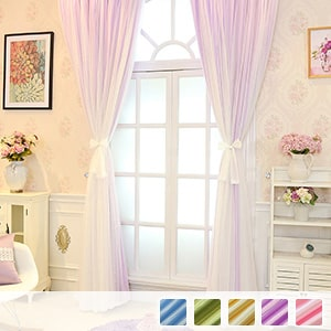 Drape and lace integrated curtain, dreaming princess curtain