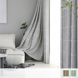 Drape curtain, plaid with astringency