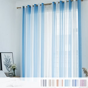 sheer curtains with beautiful striped pattern