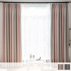 Drape curtains, elegant shades and striped patterns