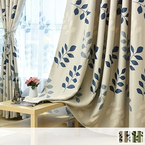 Leaf pattern drape curtain