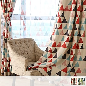 Drape curtain, geometric pattern of Scandinavian taste