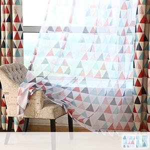 Lace curtain, geometric pattern with Scandinavian taste
