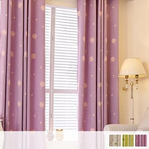 Drape curtain with cute dandelion embroidery
