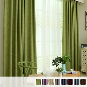 blackout faux linen drape curtains made of skin-friendly natural material
