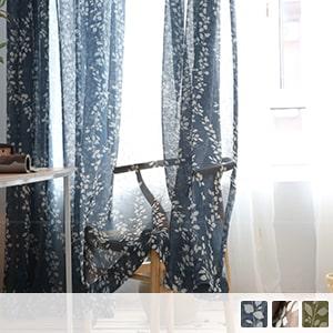 Lace curtain with beautiful leaf design