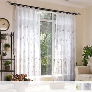 Gradation lace curtain that feels nature