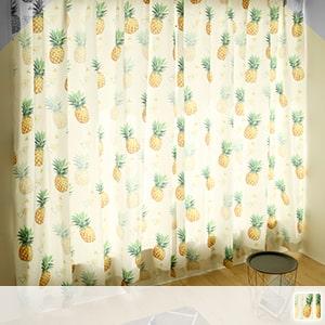 Drape curtain, cute pineapple pattern