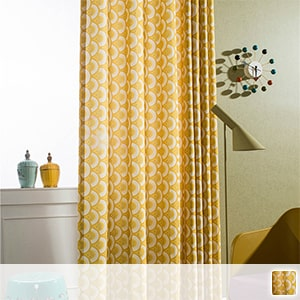 Drape curtain, cotton-blend fabric with a gentle texture