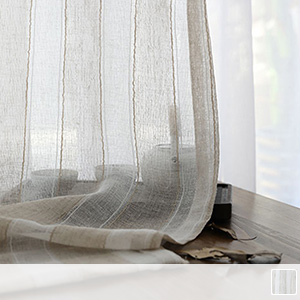 sheer curtains with quaint stripes