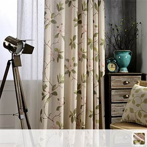 Drape curtain, elegant floral pattern