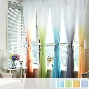 gradient sheer curtains, fashionable