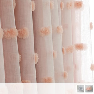 Princess-style layered curtains, fashionable custom curtains