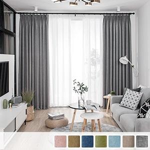 Drape curtain, ins-style plain curtain