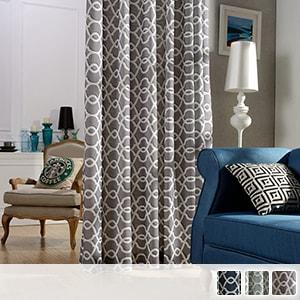 Drape curtains, modern Moroccan pattern
