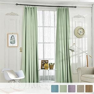 Drape curtains, plain and simple blackout curtains