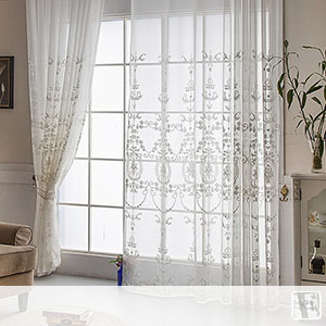 sheer curtains with ornament design