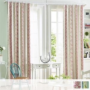 99.8% blackout drape curtains, botanical curtain with Scandinavian taste