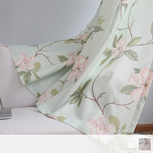 Drape curtains, elegant floral curtains