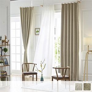 99.99% blackout drape curtains with simple plain