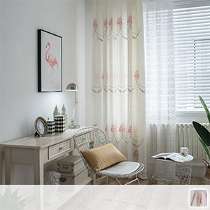gorgeous embroidered curtains, floral drapes
