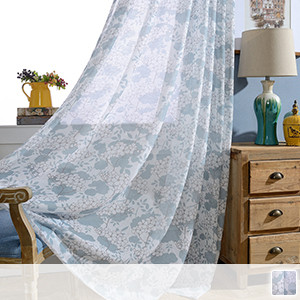 sheer curtains with elegant and delicate floral pattern
